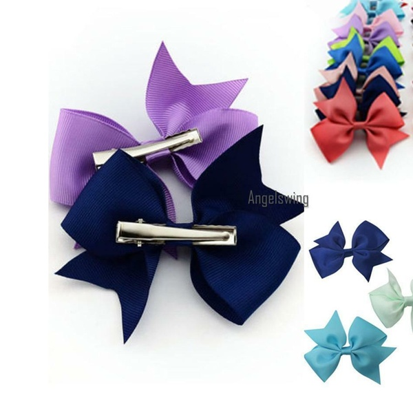 20 Pcs//Lot Baby Girls  Hair Ribbon Bows Alligator Hair Clips Bow HairpinsN/_sh