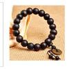 Tibetan Decor Prayer 10MM Beads Wood Buddha Charm Bracelet