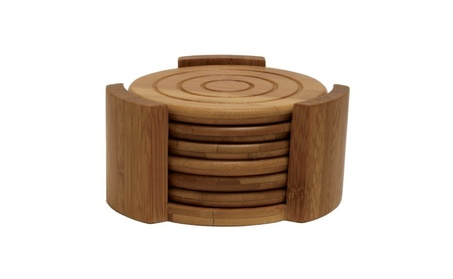 Lipper 8833 Bamboo Collection 7-Piece Coaster Set d9532d63-b0b5-4241-bb97-9b1572548792