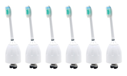 6 Packs Replacement Toothbrush brush Heads Fit For Philips Sonicare E series Was: $129.99 Now: $26.99.