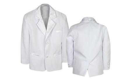 Baby Boy Infant Teen Formal Christening Blazer White suit Jacket Sm-20