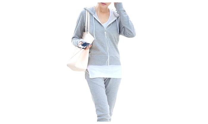 Women's PullOnStyle Regular Fit Insulation Solid Tracksuits