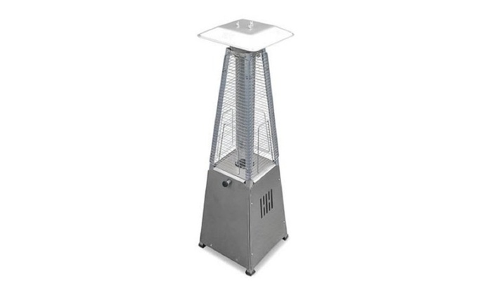 Hiland Tabletop Stainless Steel Glass Tube Patio Heater ...