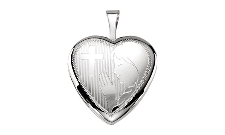Sterling Silver Prayer Locket 740090bd-7bf5-4bf8-9e78-e4b02965fa99