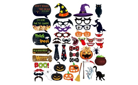 Halloween Photo Booth Props 47 Pieces DIY Kit 6b2cfaa0-aa97-4173-8b9c-df09ac44f19a