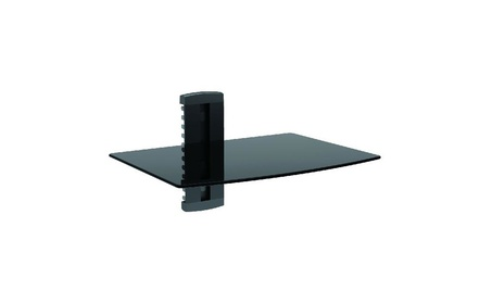 Stanley Single Glass Media Shelf For TV Components - As-100