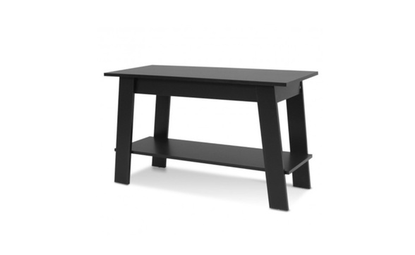 2 Tier Elevated Tv Stand Coffee Table Multipurpose Storage Console She