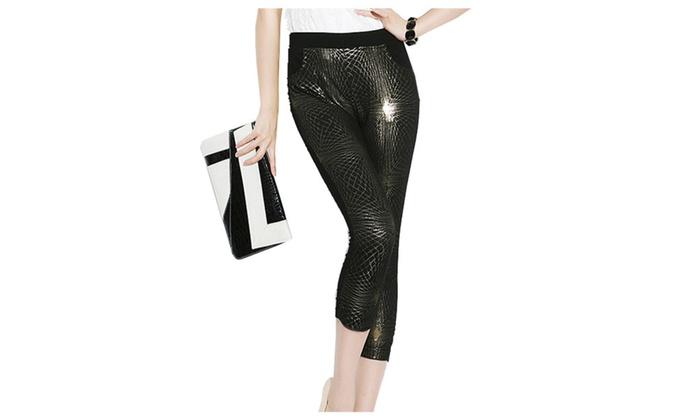 Women's Long Casual Mid Rise Simple Skinny Pants