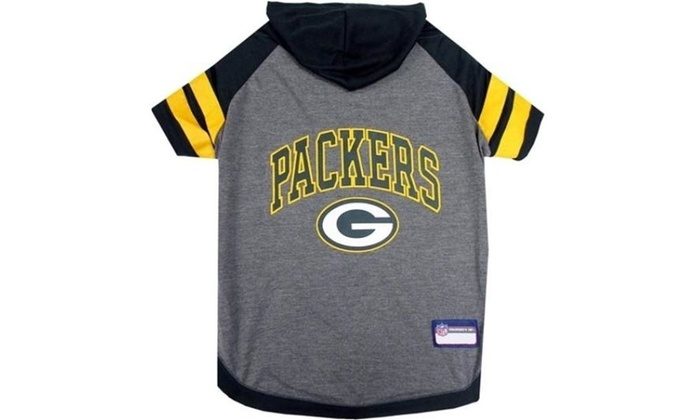 the latest 4cc1a 13b90 Pets First 849790025158 Green Bay Packers Dog Hoody Tee Shirt - Medium