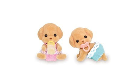 International Playthings - Calico Critters Toy Poodle Twins 9f7e1a7e-adb8-4796-8612-07b3a6850321