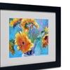 Richard Wallich 'Sun 5' Matted Black Framed Art