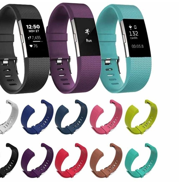 Charge 2 HR 2-Pack Sports Silicone Strap Band Bracelet For Fitbit Charge 2