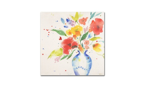 Sheila Golden 'Vibrant Bouquet' Canvas Art 6310a0ba-70f5-4c8f-bb74-6be20e2ba382