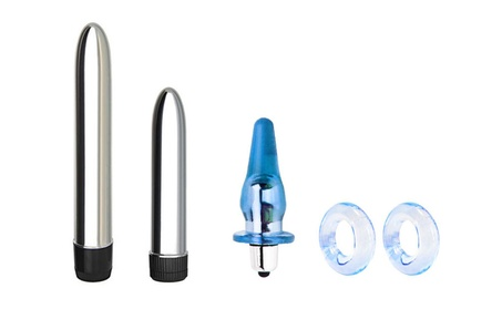 Sex Toy Couples FunPack - Vibrator - Anal Plug - 2 Stretchy C Rings f1c19337-a354-4d11-8d43-d6fcfbf11f01