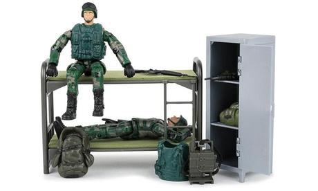 Click N Play Military Life Living Quarters Bunk Bed 14 Piece Play Set a83b222f-2eaf-4853-aa4f-b8dbaa07c122