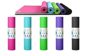 Yogra TPE 8mm Extra Long and Thick High-Density Yoga Mat