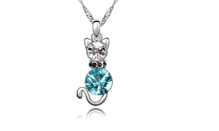 d62c824c5 Up To 64% Off on Stylish Austria Crystal Chain... | Groupon Goods