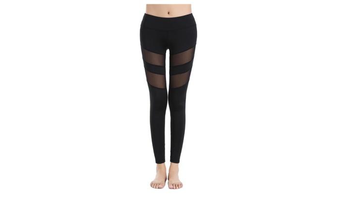 LINDA GOTHARD: Linda Women's Mesh Yoga Pants