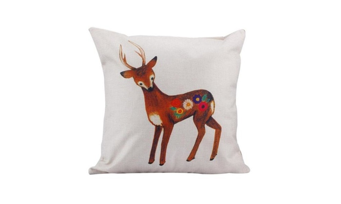 You See Me Sika Deer, Sofa Bed Home Car Decor Pillow 18 X 18 Inch