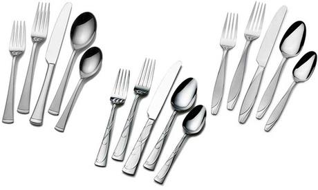 Mikasa Gourmet Basics Stainless Steel Flatware Set (20-Piece) 85ca8625-e633-411e-9da0-81b65892369d