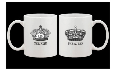 The King And Queen Couple Mugs His And Hers Matching Coffee Mug Gift f86210c2-06e5-4068-9231-59ee76820a41