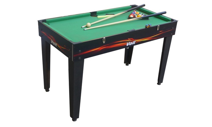 Voit 48 4 in 1 table game foosball air hockey pool for 12 in 1 game table groupon