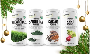Certified Organic Superfood Powders Holiday Gift Bundle (4-Pack)