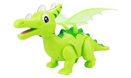 Dinosaur World Cartoon Dragon Battery Operated Walking Toy Dinosaur Figure 8ac1c37d-f5ef-4b48-be5e-02f35e979381