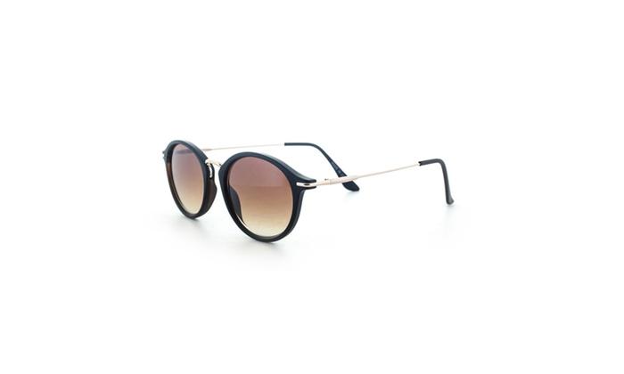 MLC Eyewear Classic Horned Rim Round Frame Sunglasses UV400
