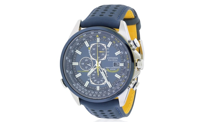2888afec0 Citizen Eco-Drive Blue Angels Chronograph Atomic Mens Watch AT8020 ...