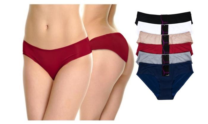 Blanca  Laser- Cut Invisible Panties (12-Pack)