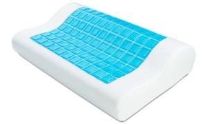 Ergonomic Cooling-Gel Antimicrobial Memory-Foam Pillow