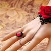 Red Rose Ring to Wrist Bracelet