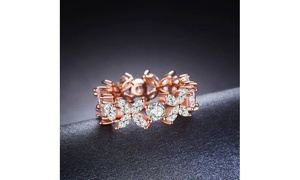 Floral Fantasy Rose Gold Plated Ring