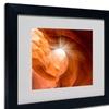 Moises Levy 'Searching Light II' Matted Black Framed Art