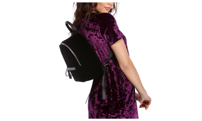 Premium Black Velvet Backpack Shoulder Bag