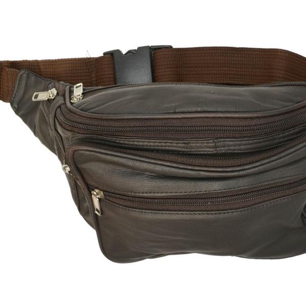 02cba4399f0d Multiple Pocket Genuine Leather Waist Pack