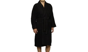 100% Long-Staple Combed Terry-Cotton Bathrobe for Men and Women