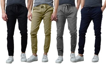 Men's Slim-Fit Moisture Wicking Cotton Stretch Classic Jogger Pants (S-2XL)