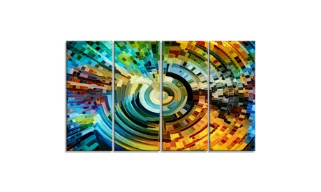 Paths of Stained Glass - Abstract Canvas Artwork 6a5f6919-0efa-43a8-a438-7431a760aabb