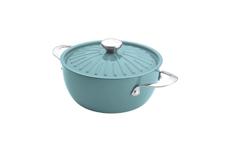 Rachael Ray 16295 4.5-Quart Covered Round Casserole - Agave Blue 5c5879a5-9826-40c5-8014-256fc6c94fe7