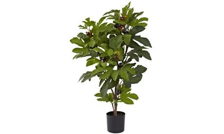 Nearly Natural 32 Fig Tree w/42 Lvs & 15 Figs e564f833-2037-4635-a616-4192795b5a87
