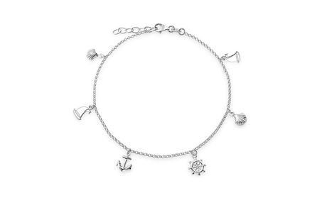 Bling Jewelry Silver Seashell Anchor Sailboat Nautical Charm Anklet ff53ca8b-fe31-4796-bc78-11ce6a638374