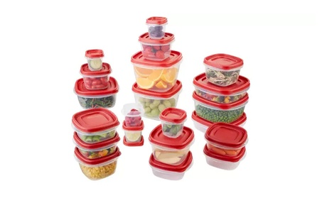 Premium BPA-Free Plastic Food Storage Containers Set 50 Pc df6f31ba-dab2-496e-9aac-6623a960472b