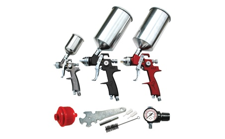 ATD Tools ATD-6900 9 Pc. Hvlp Spray Gun Set e3334263-0851-4ee5-b073-0285089562ee