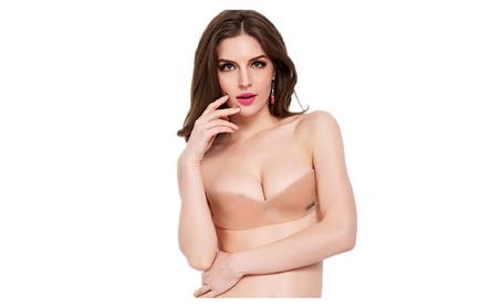 Front Closure Self-Adhesive Invisible Silicone Seamless Strapless Bra - Free 77db0cc1-adc4-45be-8f6d-57215016768a