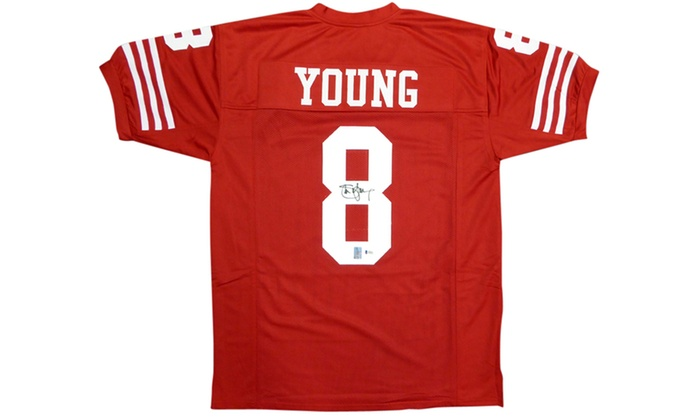 size 40 c137e 05e7d Steve Young Autographed Red Custom Jersey - San Francisco 49ers