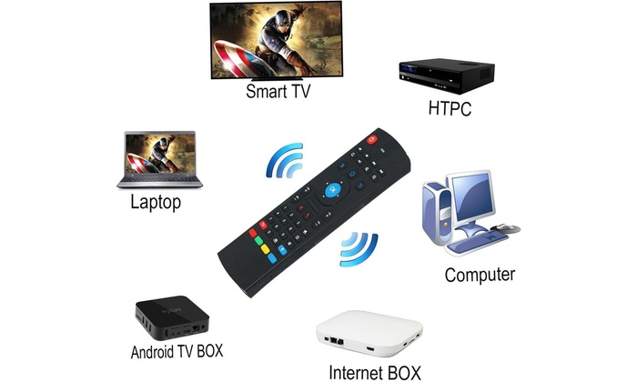 MX3 2.4G Wireless Air Fly Mouse Keyboard Remote Control For Android TV Box PC CA