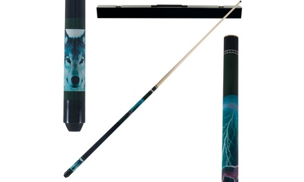 59 off on wolf pool stick groupon goods. Black Bedroom Furniture Sets. Home Design Ideas