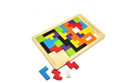 Wood intelligence Wooden Tetris Puzzle Tangram Jigsaw puzzle 3852d67b-b185-467b-be43-f475c8559c14